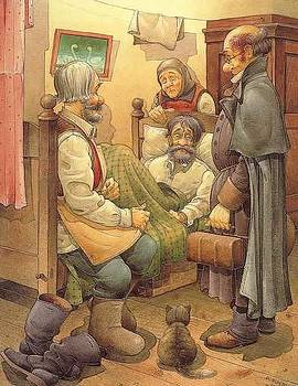 Kestutis Kasparavicius - The Honest Thief 09 Illustration for book by Dostoevsky