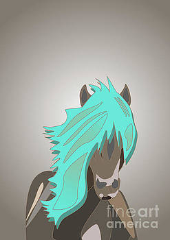 The Horse with the Turquoise Mane by Barefoot Bodeez Art
