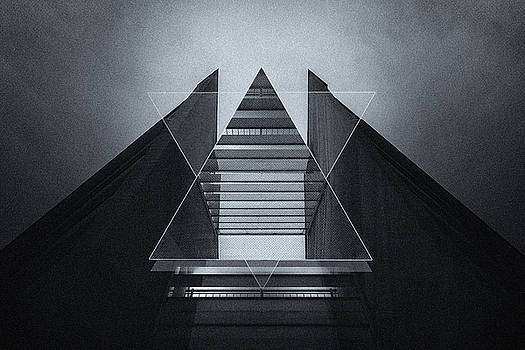 The Hotel experimental futuristic architecture photo art in modern black and white by Philipp Rietz