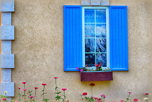 The House with the Blue Shutter by AJ Schibig