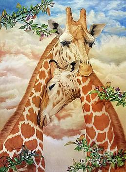 The Hug - Giraffes by Anne Koivumaki - Fine Art Anne