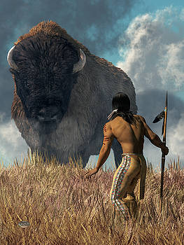 The Hunter and the Buffalo by Daniel Eskridge