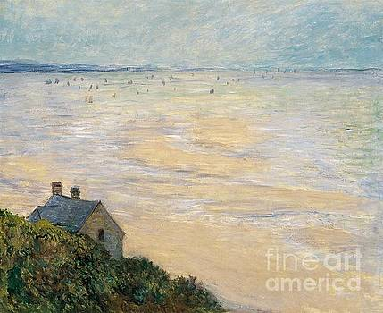 Monet - The Hut At Trouville Low Tide