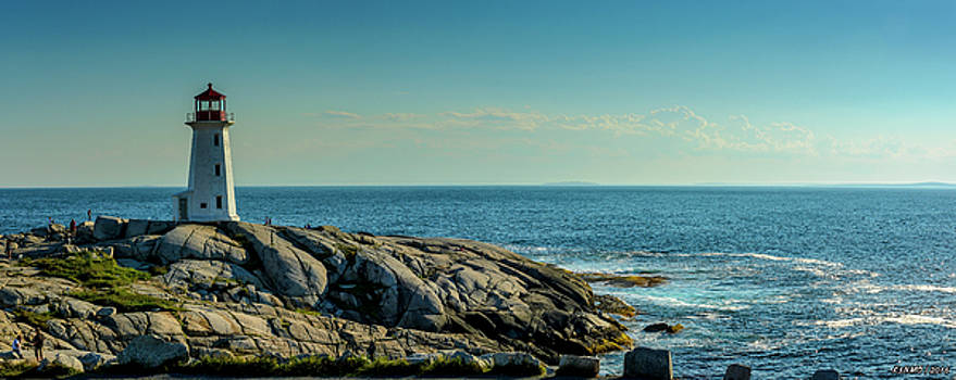 The Iconic Lighthouse at Peggys Cove by Ken Morris