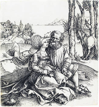Albrecht Durer - The Ill-Assorted Couple