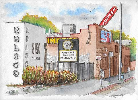 The Improv Comedy Store in Melrose Blvd., West Hollywood, California by Carlos G Groppa