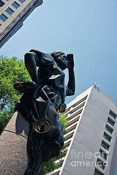 The Industrial Sculpture in Charlotte by Jill Lang