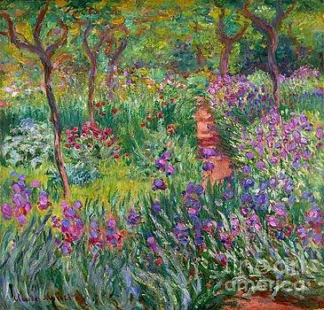Monet - The Iris Garden Giverny