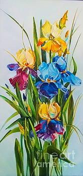 The Irises by Elena Yalcin