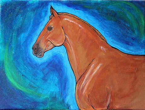 The Iron Horse UConn Polo Pony, Moe by Helen Scanlon