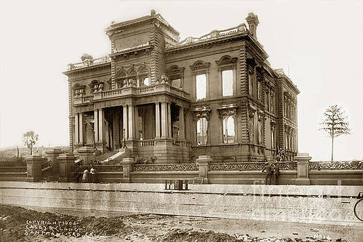 The James C. Flood Mansion on Nob Hill April 1906 by California Views Mr Pat Hathaway Archives