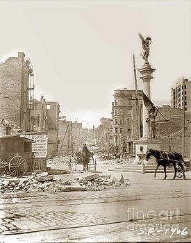California Views Mr Pat Hathaway Archives - The James D. Phelan monument  San Francisco after the 1906 Earthquake