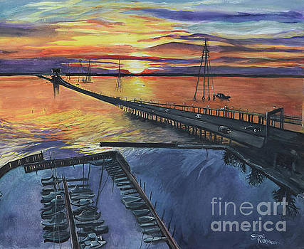The James River Bridge by Toni  Thorne