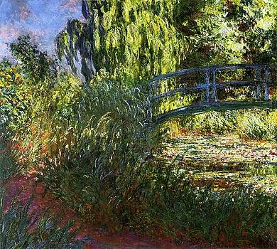 Monet - The Japanese Bridge Lily Pond and Path