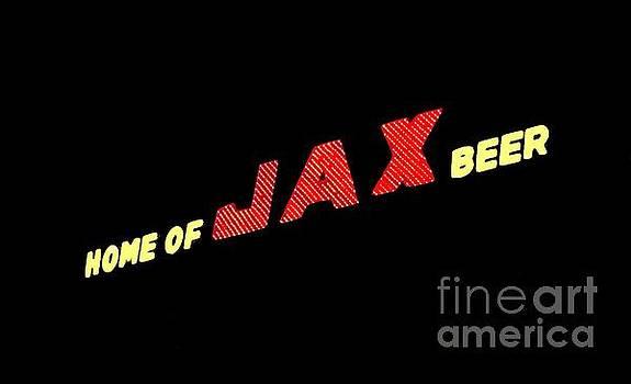 The Jax Beer Sign Artwork by Joseph Baril