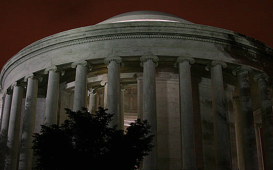 The Jefferson Memorial at Night by Brian M Lumley