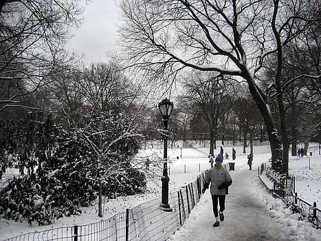 the jogger in New York by Joe Scoppa
