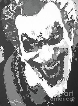 The Joker's Soul BW by Kelly Hartman