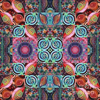 The Joy of Design Mandala Series Puzzle 7 Arrangement 1 by Helena Tiainen
