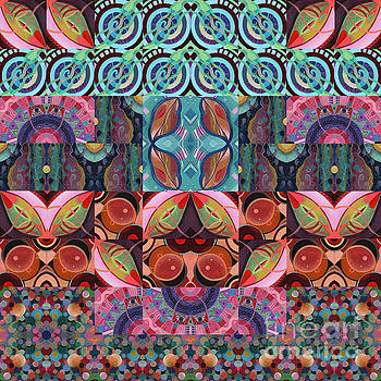 The Joy of Design Mandala Series Puzzle 7 Arrangement 3 by Helena Tiainen