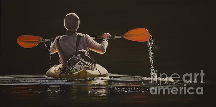 The Kayaker by Laurie Tietjen