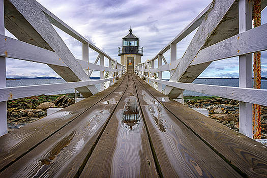 The Keeper's Walkway at Marshall Point In Color by Rick Berk
