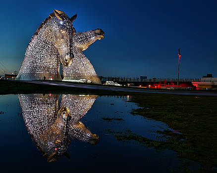 The Kelpies Reflected by Andy Griffiths