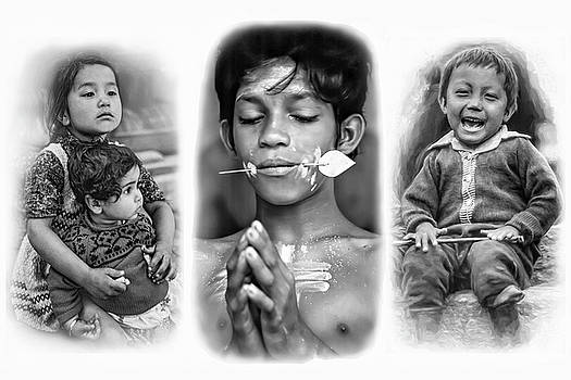 Steve Harrington - The Kids of India Triptych bw