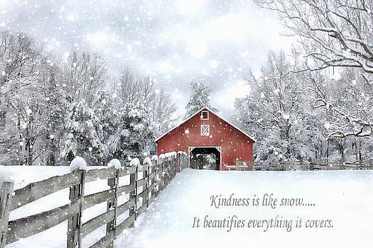 The Kindness Winter Barn by Benanne Stiens