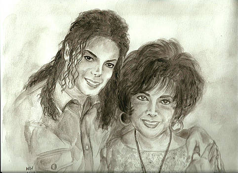 The King of Pop and Elizabeth Taylor by Nicole Wang