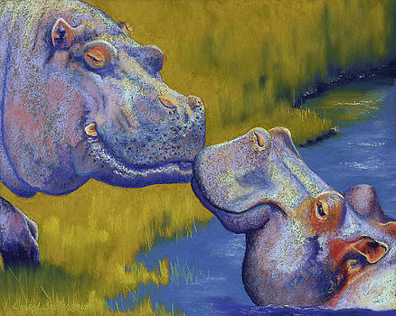 The Kiss - Hippos by Tracy L Teeter