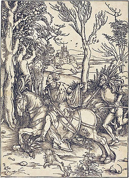 Albrecht Durer - The Knight on Horseback and the Lansquenet