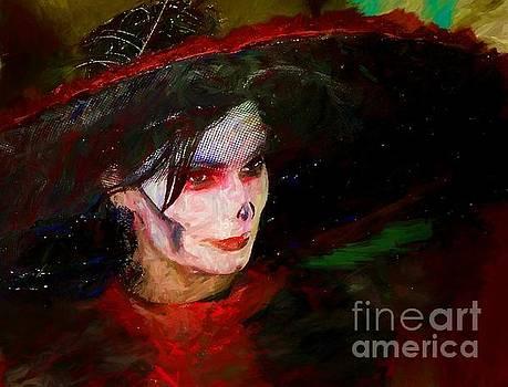 The Lady In Red by John Kolenberg