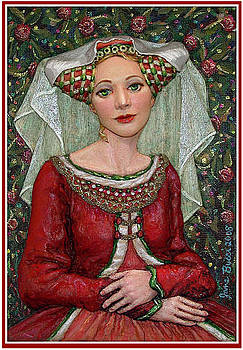 The Lady Mae   Bas Relief Miniature by Jane Bucci