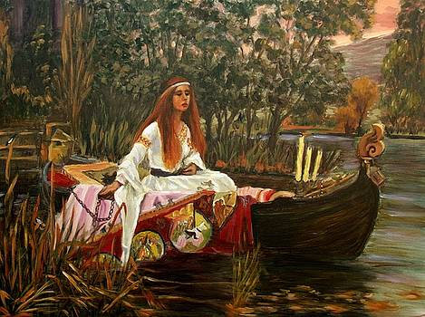 The Lady of Shalott by Elena Sokolova