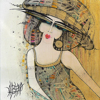 The Lady With A Hat 2 by Albena Vatcheva