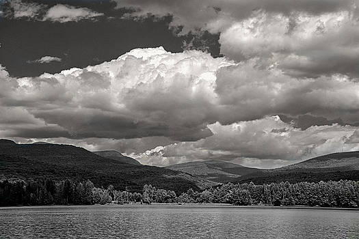 The Lake with Dramatic Clouds by Nancy De Flon