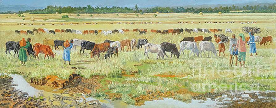 The landscape  by Yoseph Abate