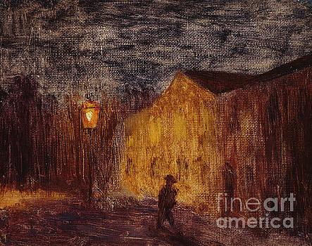 The lantern  by Harald Sohlberg