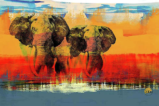 The Last Elephants by Artist Jabu