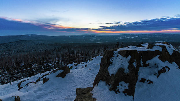 the last light of the day in the Harz mountains by Andreas Levi