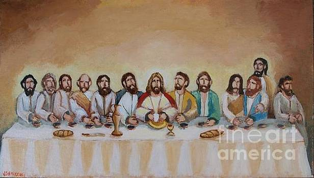 The Last Supper by Jean Pierre Bergoeing
