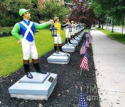 The Lawn Jockeys of Saratoga Springs by Mary Capriole