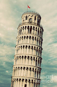 Michal Bednarek - The Leaning Tower of Pisa, Tuscany, Italy. Vintage, retro