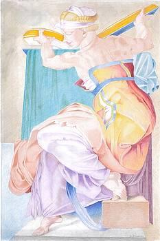 The Libyan Sybil Sistine Chapel Michelangelo by Bernardo Capicotto