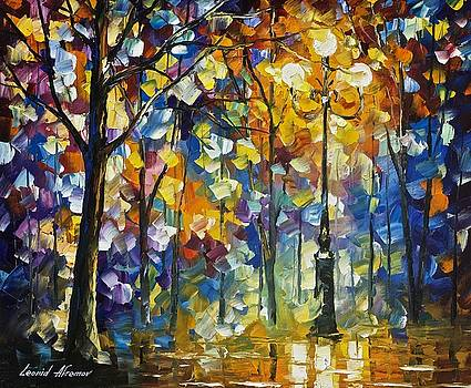 The Light Of Magic - PALETTE KNIFE Oil Painting On Canvas By Leonid Afremov by Leonid Afremov