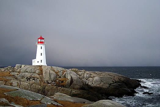 The Lighthouse at Peggys Cove Nova Scotia by Shawna Mac