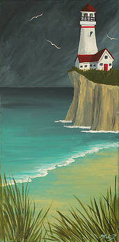 The Lighthouse on the Cliff by Micki Findlay
