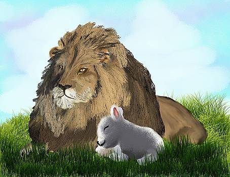 The Lion and The Lamb by Diane Haas