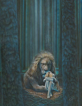 The Lion Shall Protect The Lamb by Wayne Pruse